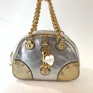 Juicy Couture gold and silver metallic purse